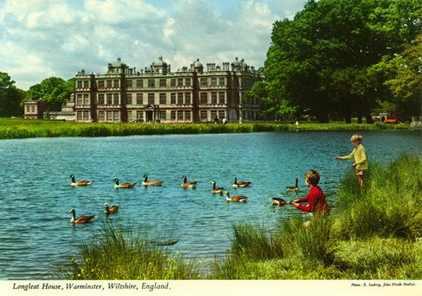 john hinde postcards - longleat house